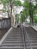 Treppe in Montmartre, Paris lizenzfreies stockbild