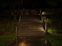 Treppe nachts stockfotos