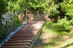 Treppe nahe dem Tempel Stockbild