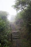 Treppe in Paranapiacaba, Brasilien Stockfotos