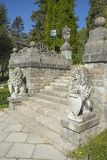 Treppe an Peles-Schloss Stockfotografie