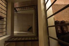 Treppe stoppt nie schrittweises Quadrat Stockfotografie