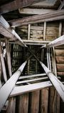Treppe und Dachboden Stockbilder