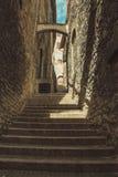 Treppe und Gasse in Assisi Lizenzfreies Stockfoto