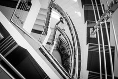 Treppe und Hausmeister stockbild