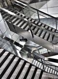 Treppe und Schritte Stockfoto