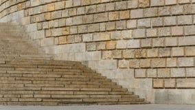 Treppe und Wand Lizenzfreies Stockfoto