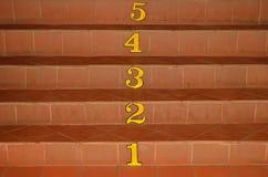 Treppe und Zahl Lizenzfreies Stockbild