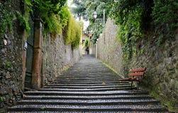 Treppe in Varenna, See Como, Italien Lizenzfreie Stockfotografie