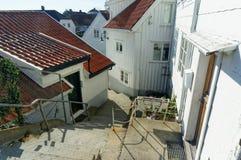 Treppe von Häusern, Norwegen Lizenzfreies Stockbild
