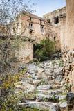Treppe Wadi Bani Habib Stockbilder