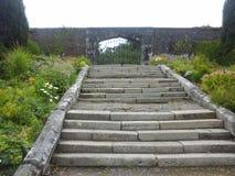 Treppe zu einem Tor Stockbilder