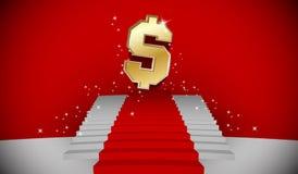 Treppe zum Dollar Lizenzfreies Stockfoto