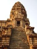 Treppe zum Drittniveau von Angkor Wat Lizenzfreies Stockfoto
