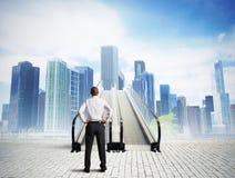 Treppe zum Erfolg Stockfoto