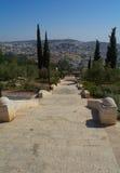 Treppe zum Gazebo mit einer Aussichtsplattform Stockfotos