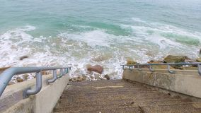 Treppe zum Meer Stockbilder