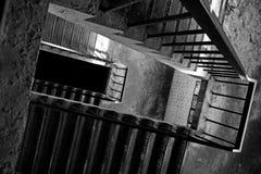 Treppe zum obersten Stockwerk Stockbild