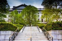 Treppe zum Zustands-Kapitol in Harrisburg, Pennsylvania Lizenzfreies Stockfoto
