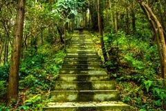 Treppe zur Gebirgsspitze von Shisun lizenzfreie stockfotos