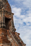 Treppe zur Pagode bei Wat Chaiwatthanaram Temple, Ayutthaya Stockfoto