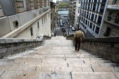 Treppe zur Seine Stockfoto