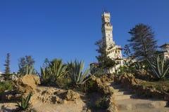 Treppen, die zu das Al-Haramlik Palace+garden führen Stockfoto