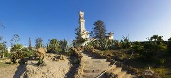 Treppen, die zu das Al-Haramlik Palace+garden führen Lizenzfreie Stockfotos