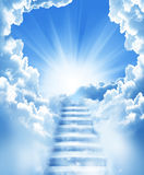 Treppen im Himmel Lizenzfreie Stockfotos
