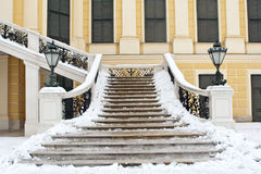 Treppen im Wien-Palast Lizenzfreies Stockfoto