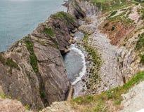 Treppen-Loch, nahe Lulworth in Dorset, England stockfotos