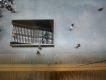 Treppen und Leute Stockfotografie