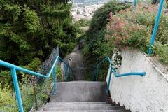 Treppen unten Lizenzfreies Stockfoto