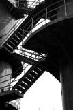 Treppen von zwei Kontrolltürmen Stockfotos
