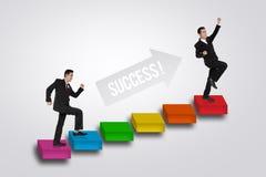 Treppen zum Erfolg lizenzfreie stockfotos