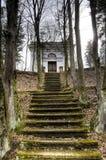 Treppen zum Mausoleum Stockfotografie