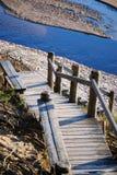 Treppen zum Meer Stockfoto