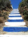 Treppenhäuser achitecture Detail im Hotel, das Griechenland errichtet Stockfotografie