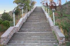 Treppenhaus auf dem Mitridat Berg in Kerch Lizenzfreies Stockbild