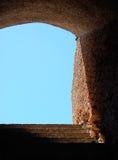 Treppenhaus bei Ostia Antica Stockfotos