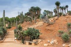 Treppenhaus in Botanicactus-Garten Mallorca Stockfotografie