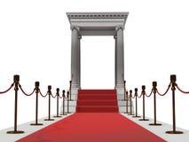 Treppenhaus des roten Teppichs Lizenzfreies Stockfoto