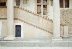 Treppenhaus des Steins Stockfoto