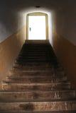 Treppenhaus in die Leuchte Stockbilder