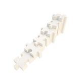 Treppenhaus gemacht von den glatten Puzzlespiellaubsägenstücken Lizenzfreies Stockfoto