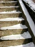 Treppenhaus im Winter Stockbilder