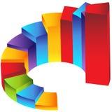Treppenhaus-Jobstepp-Säulengrafik lizenzfreie abbildung