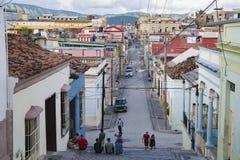 Treppenhaus Santiago de Cuba stockbild