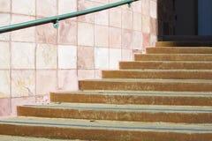Treppenhaus und Geländer stockfoto
