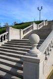 Treppenhaus und Laternenpfahl Lizenzfreie Stockfotografie